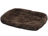 Petmate Plush Bolster Kennel Mat Brown X-Small