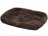 Petmate Plush Bolster Kennel Mat Brown Medium