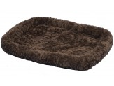 Petmate Plush Bolster Kennel Mat Brown X-Large