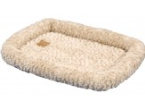 Petmate Plush Bolster Kennel Mat Tan X-Small