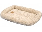 Petmate Plush Bolster Kennel Mat Tan Small