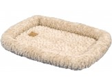 Petmate Plush Bolster Kennel Mat Tan Medium