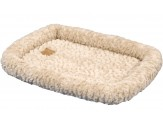 Petmate Plush Bolster Kennel Mat Tan Large