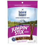 Natural Balance LIT Hip-Stix Venison Formula Semi-Moist Dog Treat 4oz