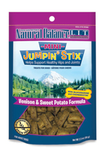 Natural Balance LIT Mini Hip-Stix Venison Formula Semi-Moist Dog Treat 3.5 oz