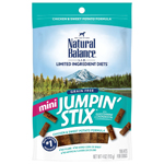 Natural Balance LIT Mini Hip-Stix Chicken Formula Semi-Moist Dog Treat 4oz