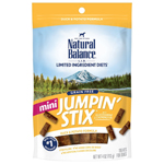 Natural Balance LIT Mini Hip-Stix Duck Formula Semi-Moist Dog Treat 4oz