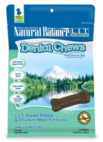 Natural Balance LIT Sweet Potato&Chicken Meal Dental Chew Small Breed 13oz/22ct