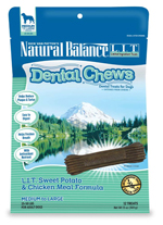 Natural Balance LIT Sweet Potato&Chicken Meal Dental Chew 13oz/12ct
