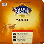 Natures Recipe Adult Dry Dog Food Chicken Meal And Rice 15Lb