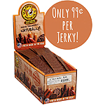 HAPPY HOWIE'S DOG BEEF JERKY 6IN 80PK