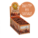 "Happy Howie Dog Beef Sausage 4"" 80 Pack"