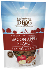 Exclusively Pet Training Treats Bacon and Apple Flavor 7oz