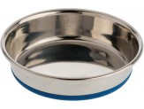 OurPet's Premium Rubber-Bonded Stainless Steel Cat Dish 8oz