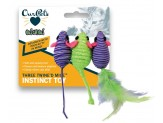 OurPets Three Twined Mice Cat Toy 3pk