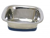 OurPet's Durapet Premium Stainless Steel Square Bowl Medium