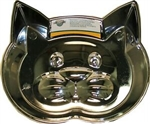 Our Pets Metalshield Cat Face Dish