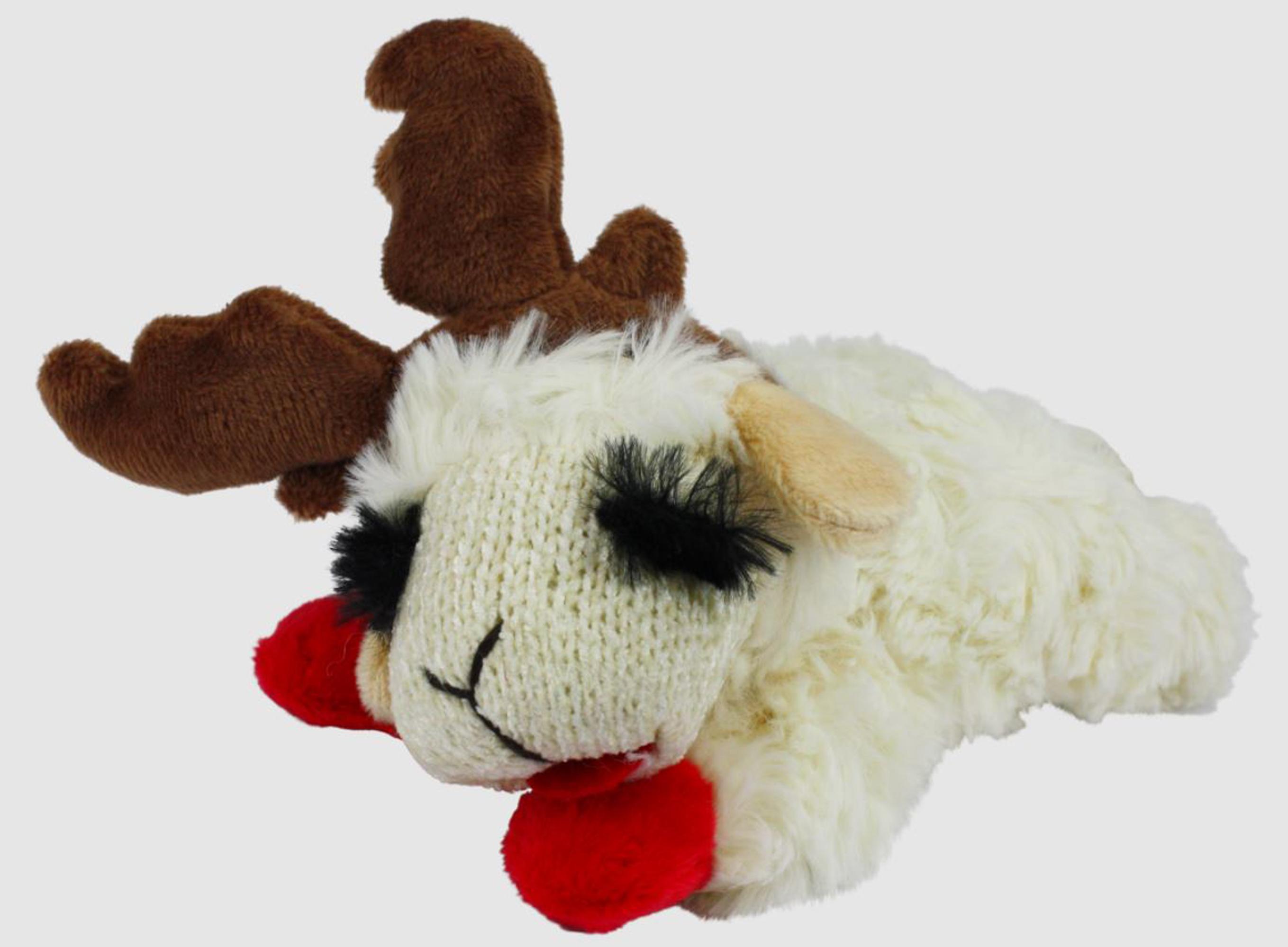 Multipet Mini Lamb Chop With Reindeer Antlers