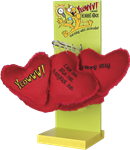 Duckyworld Yeowww!   Display Stand w/12 ct. Hearrrt Attack (assorted)
