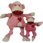 HUGGLEHOUNDS DOG KNOTTIE VALENTINE SOCK MONKEY LARGE