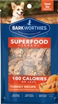 Barkworthies Turkey Jerky Recipe w/Pumpkin, Sweet Potato & Carrot Blend 100 Calorie Pack (Mini Case)