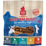 PLATO DOG KEEP 'EM BUSY DUCK & BLUEBERRY TREATS SMALL 5OZ