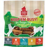PLATO KEEP 'EM BUSY CHICKEN & APPLE TREATS LARGE 5OZ