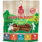 PLATO DOG KEEP 'EM BUSY CHICKEN & APPLE TREATS SMALL 5OZ