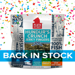 Plato Hundurs Crunch Jerky Fingers Fish Dog Treats, 3.5OZ