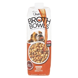 Fruitables Beef Broth Bowls for Dogs Food Topper - 33.8oz.