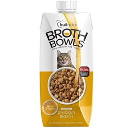 Fruitables Chicken Broth Bowls for Cats Food Topper - 16.9oz.