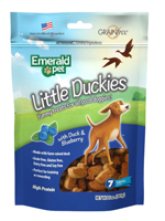 Emerald Pet Little Duckies and Blueberry Dog Treats 5oz