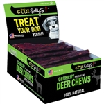 ETTA SAYS DOG CRUNCH DEER CHEW STICK 7IN 20 COUNT