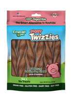 Emerald Pet Piggy Twizzies Dog Treat 6pk/6in