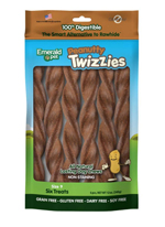 Emerald Pet Peanutty Twizzies Dog Treat 6pk/9in