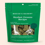 Bocces Bakery Dog Biscuits Market Greens 8Oz.