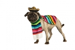 Rubies Mexican Serape Pet Costum S