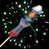 Blue Green Peony Ultra Rocket from Sonic Fireworks Shop