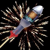 Crackling Flowers Ultra Rocket from Sonic Fireworks Shop