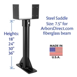 "36"" Long Riser, 7-1/2"""" Saddle, Heavy Duty Duty, Black (Arbors Direct)"