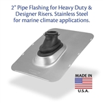 "Stainless Steel Ultimate Pipe Flashing 2"" - For Heavy Duty Risers"