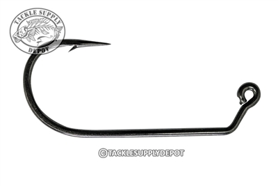 Mustad - 60 Degree 2X Strong Wide Bend Flipping Jig Hook - Black Nickel - 2/0