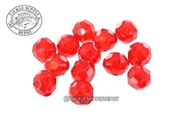 Top Brass - Faceted Glass Beads