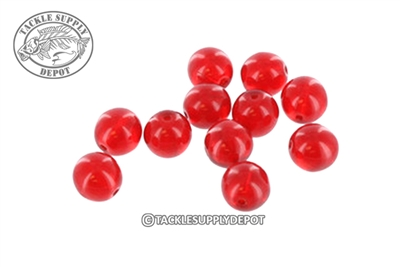 Top Brass - Round Glass Beads