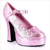 Mary Jane Platform (Pink Glitter) Adult Shoes