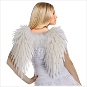 Adult (White) Feather Angel Wings