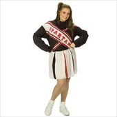 SNL Spartan Cheerleader Female plus Adult Costume