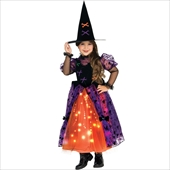 Fiber Optic Pretty Witch Toddler Costume