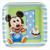 Disney Mickey's 1st Birthday Dessert Plates