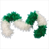 Green & White Feather Boa Adult